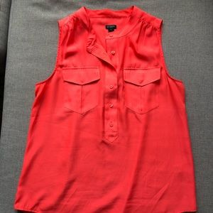 J Crew Sleeveless button blouse